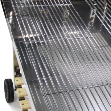 Edelstahl Holzkohle Grill geeignet Barbecue gross