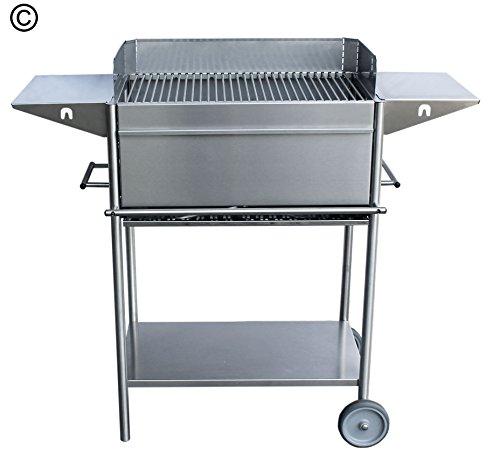 hochwertiger edelstahlgrill holzkohlengrill 2 seitenablagen grill testbericht. Black Bedroom Furniture Sets. Home Design Ideas