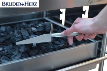 hochwertiger Edelstahlgrill Holzkohlengrill – 2 Seitenablagen