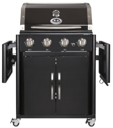 outdoorchef canberra 4g schwarz bbq gasgrill grillstation 4 brenner tempest. Black Bedroom Furniture Sets. Home Design Ideas