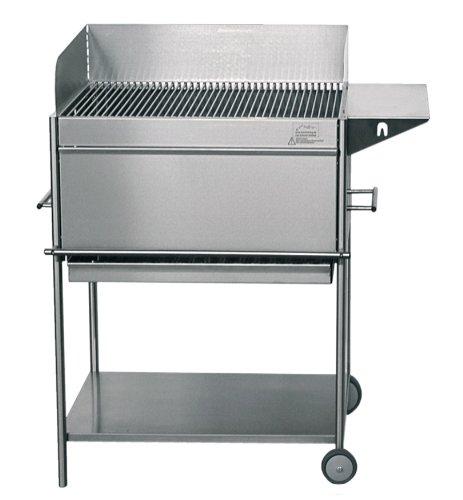 grosser edelstahlgrill holzkohle fahrbar mit frontblende grill testbericht. Black Bedroom Furniture Sets. Home Design Ideas