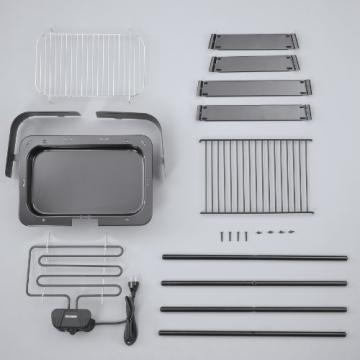 hochwertiger Barbecue-Elektrogrill schwarz