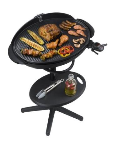 grosser Elektrogrill – Barbecue Säulengrill mit Haube