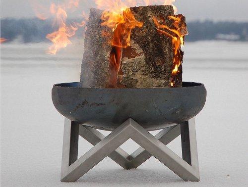 grosse feuerschale aus stahl mit pulverbeschichteten unterbau grill testbericht. Black Bedroom Furniture Sets. Home Design Ideas