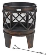 "tepro 1127 ""Gracewood"" Fire Basket - Bronze (12-Piece) -"