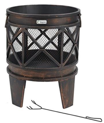 """tepro 1127 """"Gracewood"""" Fire Basket - Bronze (12-Piece) -"""